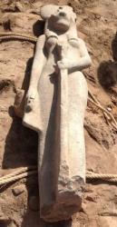 Karnak : découverte d'une statue de la déesse Sekhmet