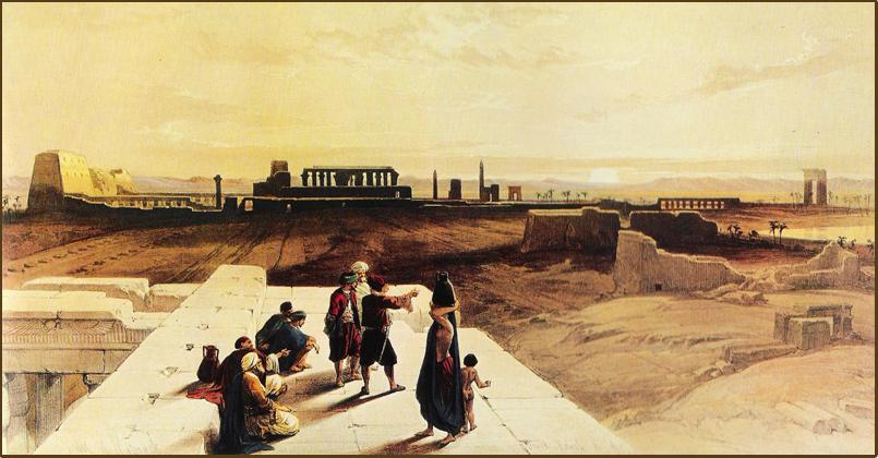 Karnak peint par Roberts en 1839