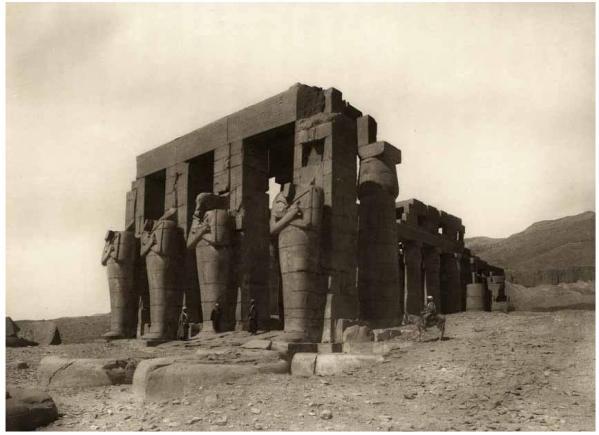 Le ramesseum circa 1910