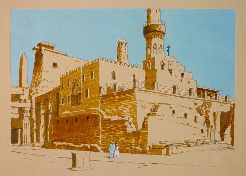 Mosquée et temple louxor - Jacques Zacharie