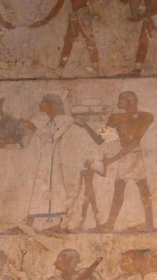 le prince de Tounip et son fils (tombe d'Ouseramon)