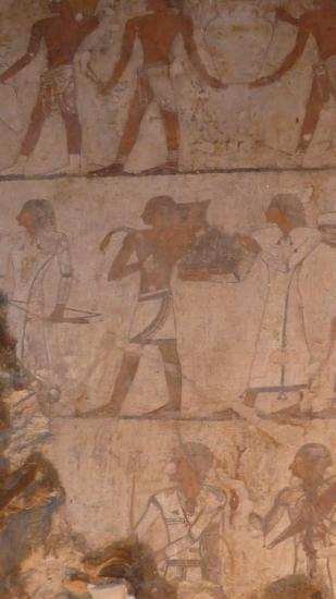 le crétois et son taurillon (tombe d'Ouseramon)