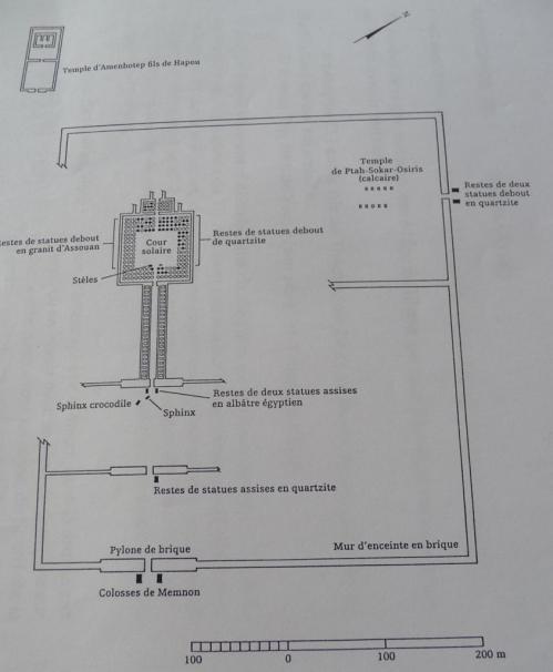 Schéma du site (Kheops Egyptologie)