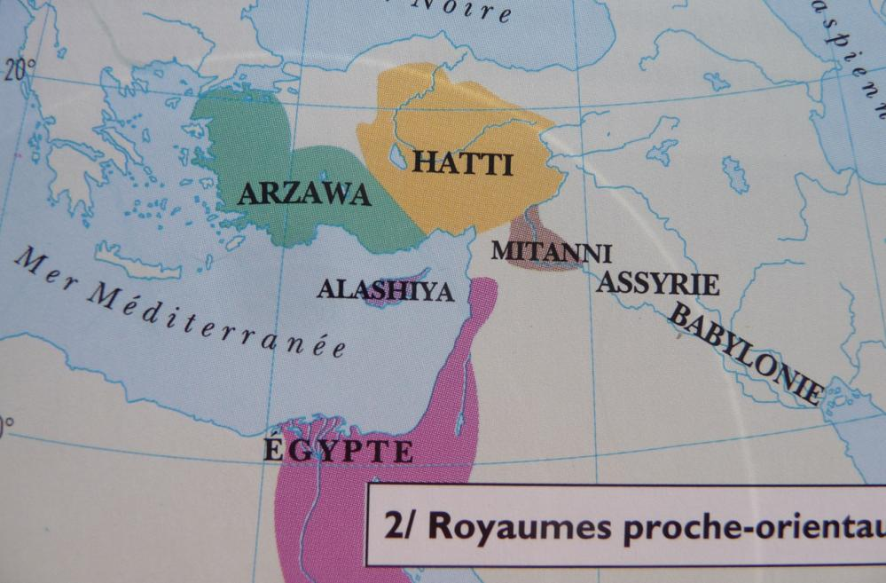 Carte de l'Asie au temps d'Amenhotep III (Atlas de l'Egypte ancienne,