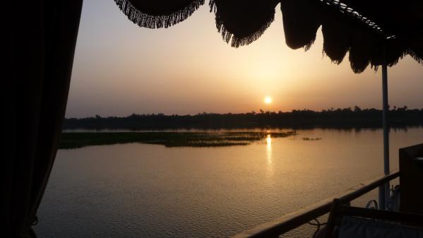 coucher de soleil vu de la Naema