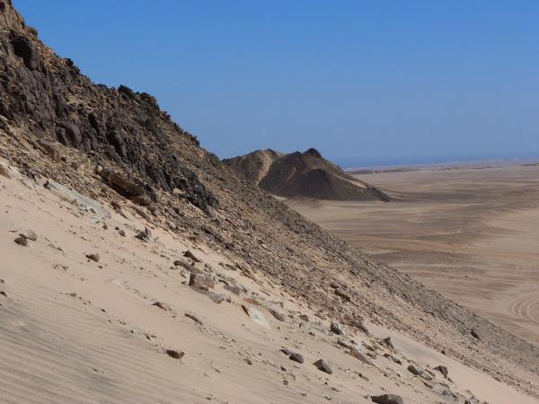 Le désert proche d'Hurghada