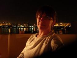 Claudine sur la terrasse de KV1