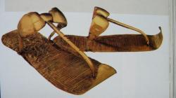 Sandales en or