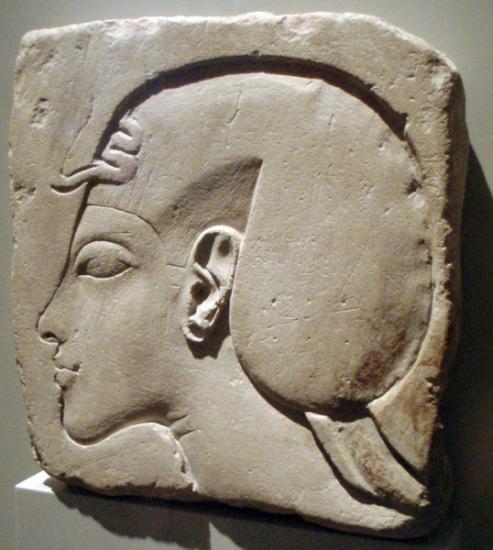 Akhenaton coiffé du Khat