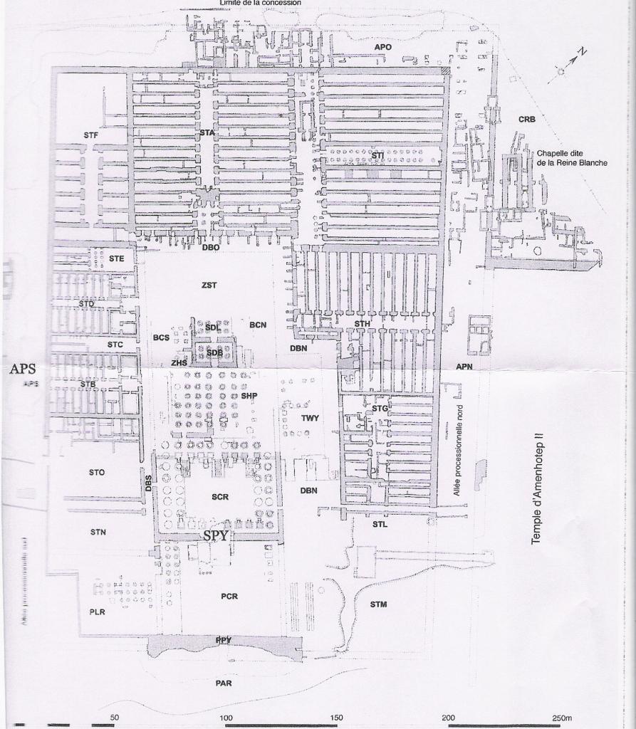 plan du Ramesseum - Memnonia 2011