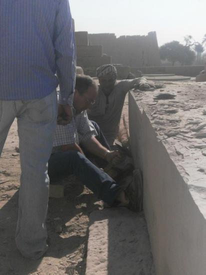 Daniel au travail - Ramesseum