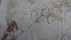les chars syriens - Dessin de Nina de Garis Davies - Metropolitan Museum