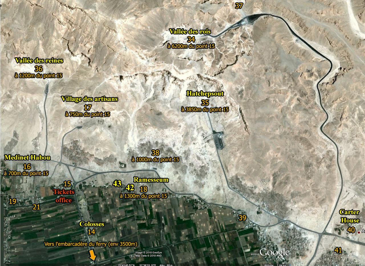 Carte des vallées
