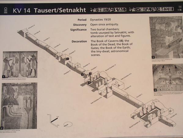 KV14 - Tombe de Taousert et réutilisé et agrandi pour Sethnakht
