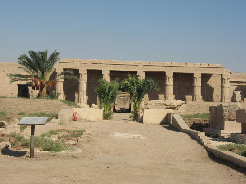 Le portique du temple de Seti 1er