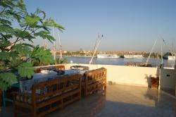 Superbe vue sur le Nil depuis la terrasse