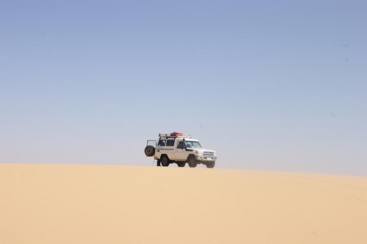 Les dunes avant l'oasis de Kharga.