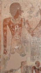 Les peintures murales d'un tombe.